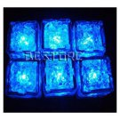 12Pcs Blue Ice Cube LED Light Wedding Party Christmas