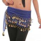 Belly Dance Hip Scarf Dark Blue