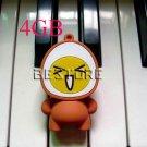 4GB Yellow Lovely egg shape USB 2.0 Flash Memory Drive