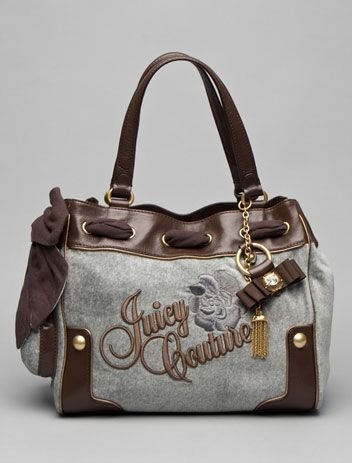 New Juicy Couture Daydreamer Day Dreamer Handbag Purse grey coffee 159#