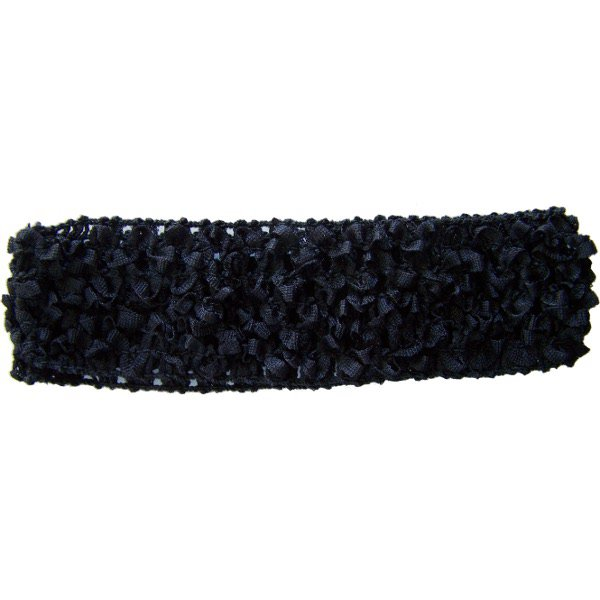 Black Crochet headband