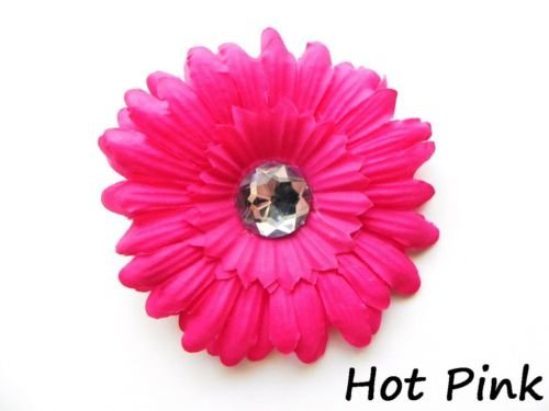Hot Pink daisy hairclip