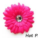 Hot Pink daisy hairclip