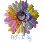 Pastel tye dye daisy hairclip
