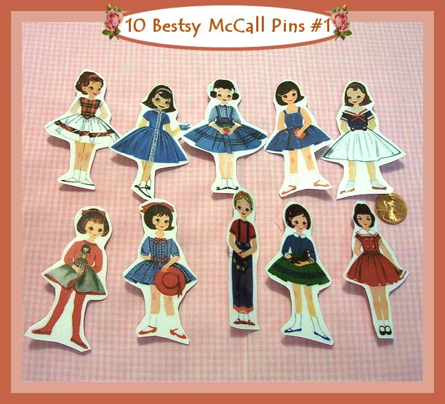 10 Mini Betsy McCall Pins P1