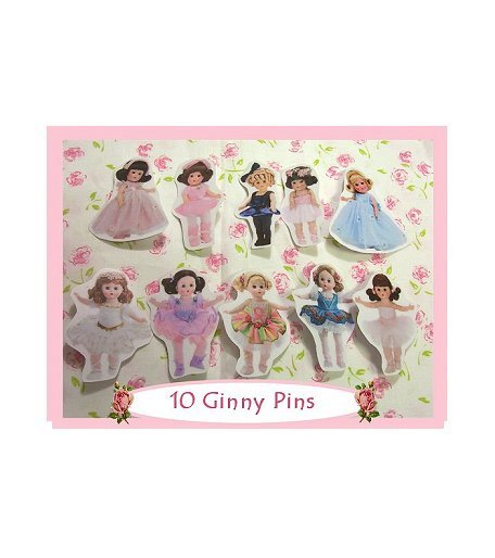 "10 Mini ""Ginny"" Doll  Pins P24"