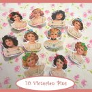 10 Mini Victorian Doll  Pins P18