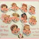 """10 Mini """"Ginny"""" Doll  Pins P16"""