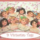 Victorian Doll Tag Set...Vintage Style Tags #4 FAVORS
