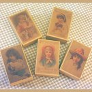 5 Wee Doll Boxes/Lids #V1 Antique Style Doll Boxes