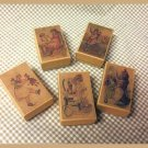 5 Wee Doll Boxes/Lids #V2  Antique Style Doll Boxes