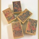 5 Wee Doll Boxes/Lids #V3  Antique Style Doll Boxes