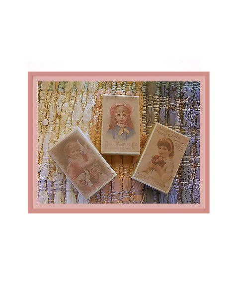 3 Wee Doll Boxes/Lids #V7  Antique Style Doll Boxes