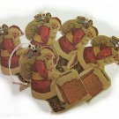 5 Vintage Inspired Santa Tags, Ornies, Decorations  #6