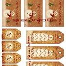 10 Vintage Primitive Snowman  Tags #5
