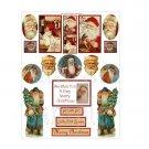 "Vintage Christmas Sticker Sheet Uncut 8.5x11"" #S201"