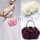 NEW Rose Evening Purse Bride Tote Cross Body bag Wedding Purse Women Gift SIL005