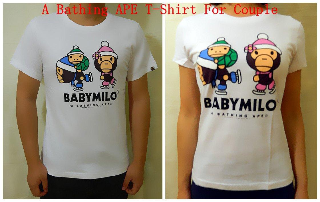 A Bathing APE BAPE T-Shirt Couple 6605