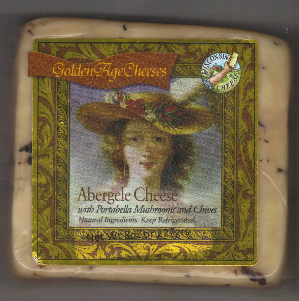 Golden Age Cheeses Portabella mushrooms and chives  2lbs Real Wisconsin Cheese