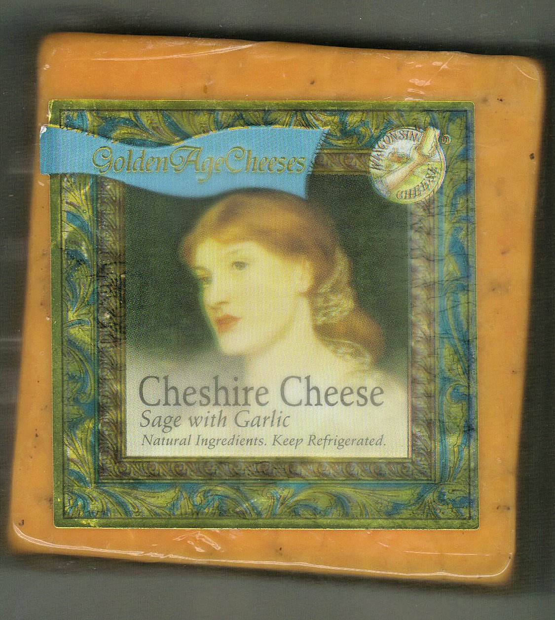 Golden Age Cheeses Sage with Garlic  2lbs Real Wisconsin Cheese