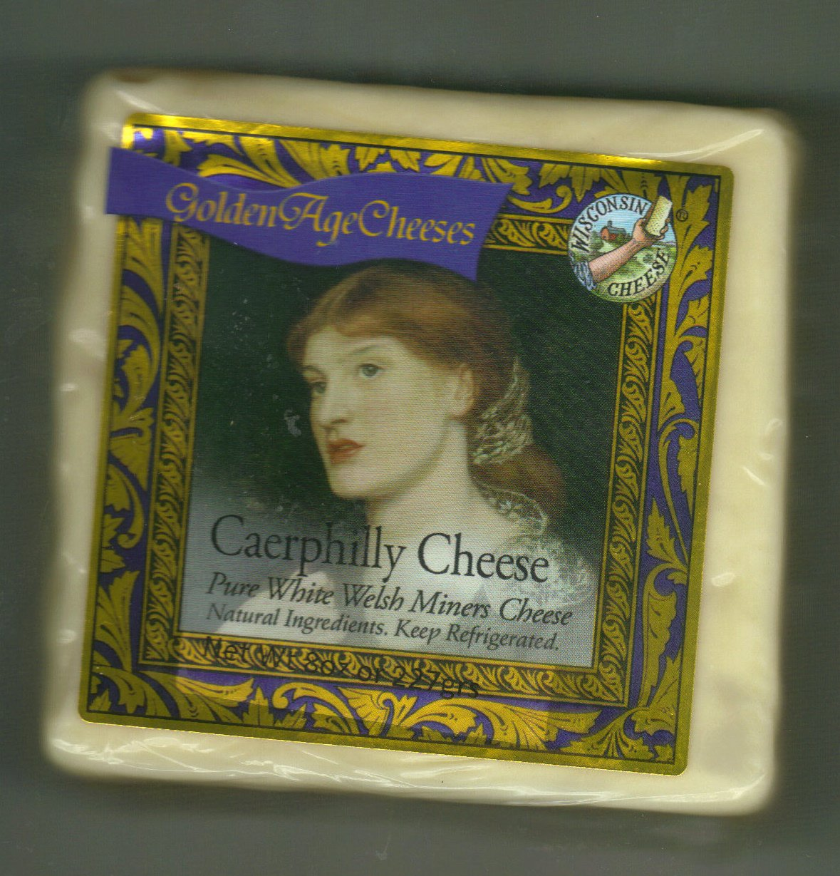 Golden Age Cheeses 2lbs Pure White Welsh Miners Real Wisconsin Cheese