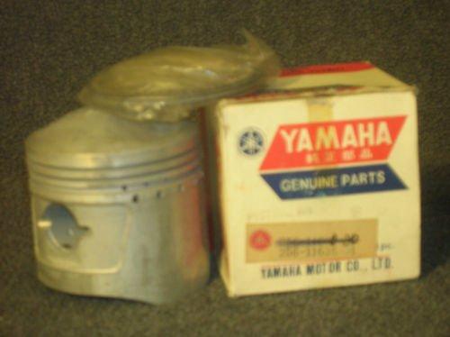 YAMAHA XS1 NOS PISTON & RING SET 2ND OVER-nos-bobber-chopper-vintage-classic