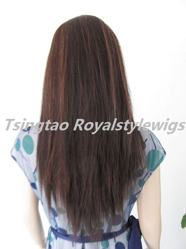 """indian remy hair full lace wigs,16"""",#1b/30 highlights~~"""