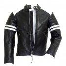 Fight Club Mayhem Black Cowhide Leather Jacket
