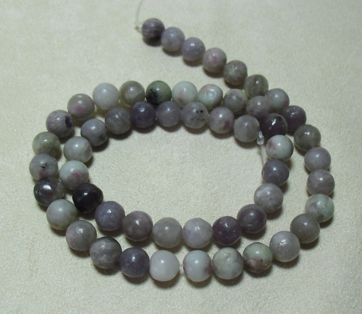 Lilac Stone Beads