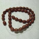 Oval Brown Goldstone Beads