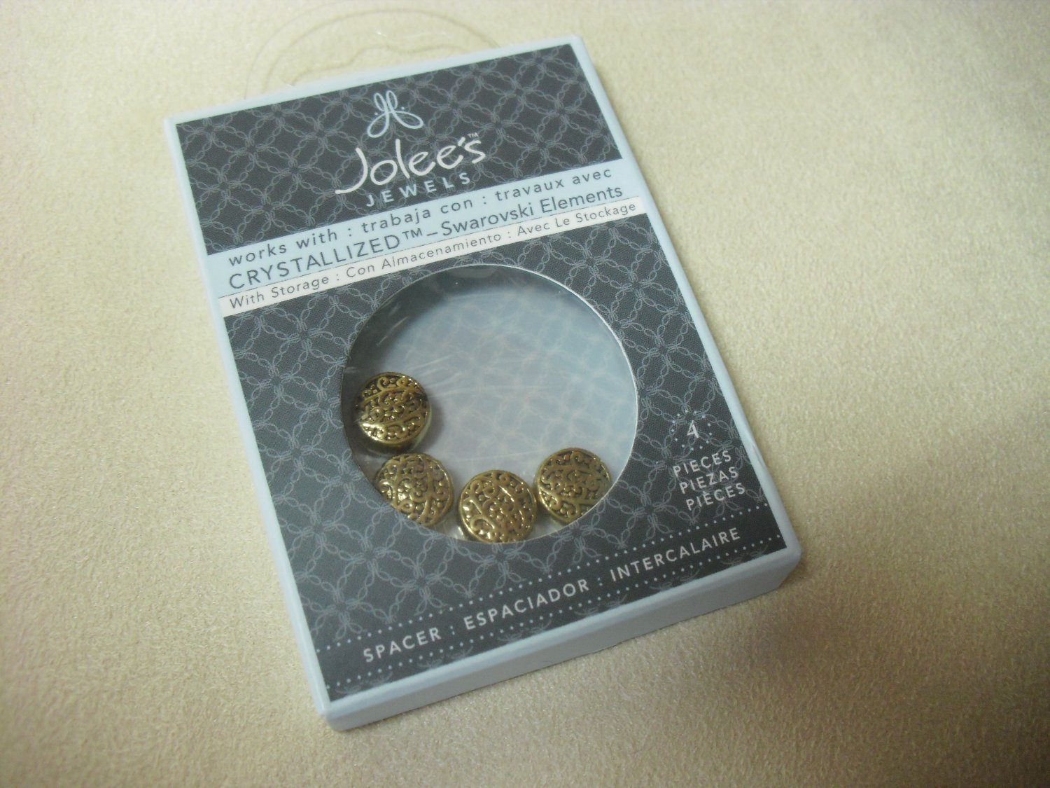 Gold-colored Spacer Beads