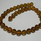 Amber-colored Faceted Beads