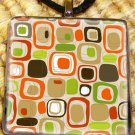 Retro Pattern Glass Pendant