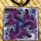 Purple Fractal - Abstract Glass Pendant