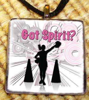 Cheerleading - Got Spirit Glass Pendant
