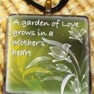 A Garden - Mother's Glass Pendant