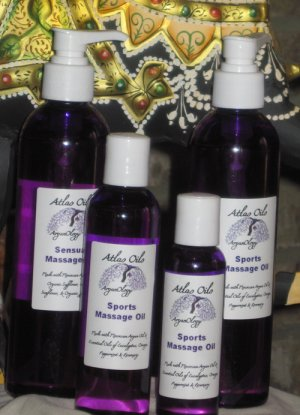 4oz. Muscle Relief Massage Oil: Contains Moroccan Argan Oil