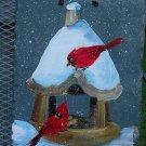 Winter Cardinals - Medium Slate