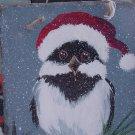 Santa Owl - Medium Slate