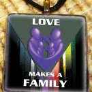 Love Makes a Family Pendant - Purple