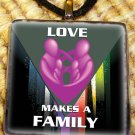 Love Makes a Family Pendant - Pink