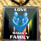 Love Makes a Family Pendant - Blue