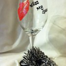 Kiss My Glass Hand Painted Stemware