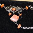 Burnt Orange Semi-Precious Stone Slave Bracelet