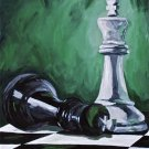Checkmate - Acrylic on Canvas - 8x10