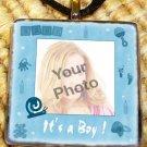 Custom Picture Glass tile Pendant - It's a Boy