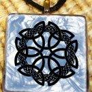 Celtic Cross Glass Pendant by Shaman Weston
