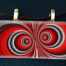 Hypnotic Eyes Glass Pendant