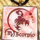 Scorpio Glass Tile Pendant