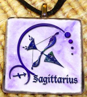 Saggitarius Glass Pendant